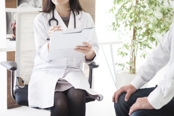 Female doctor's consultation
